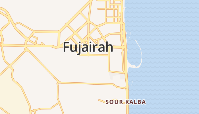 Fujairah online kaart