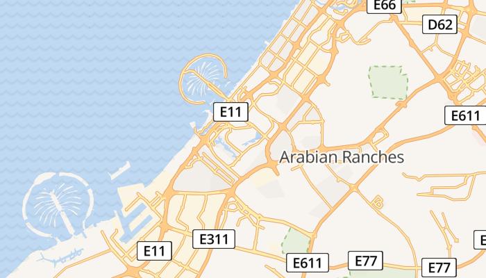 Dubai online kaart