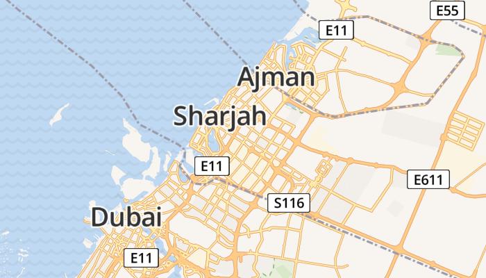 Sharjah online kaart
