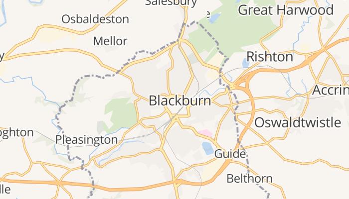 Blackburn online kaart