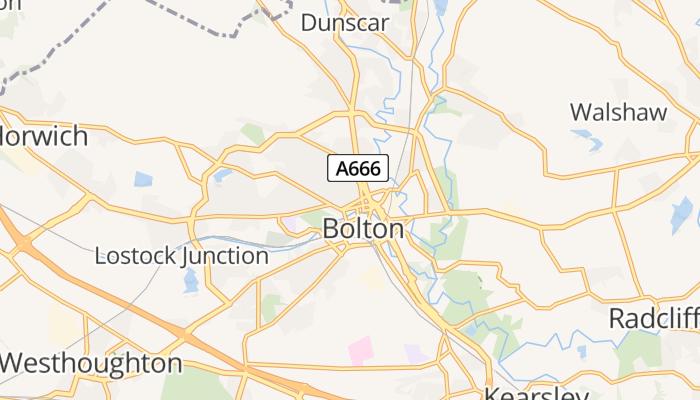 Bolton online kaart