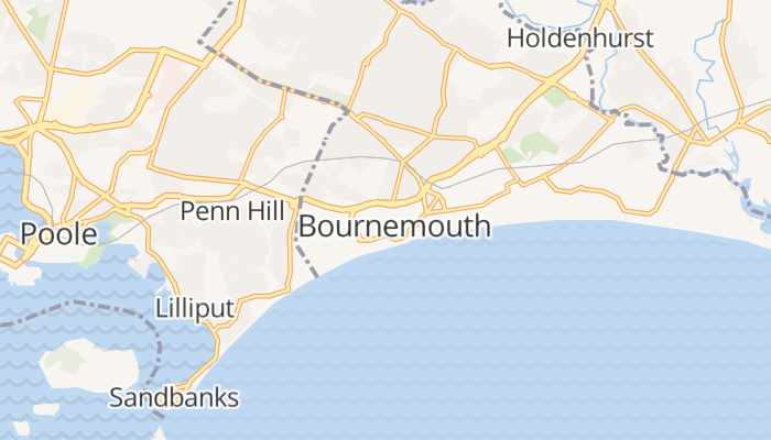 Bournemouth online kaart