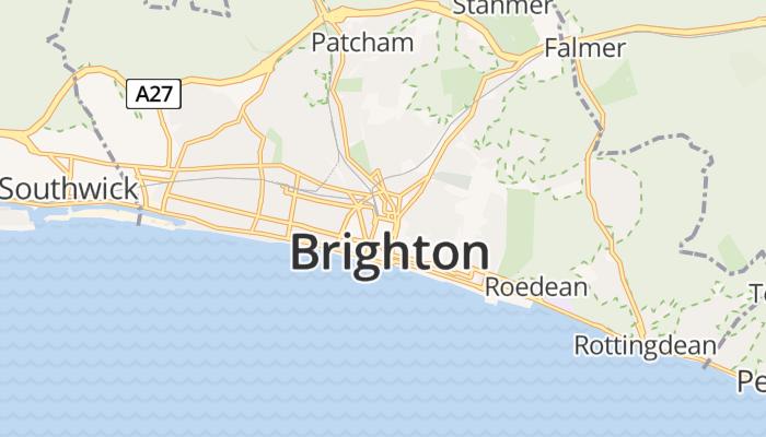Brighton online kaart