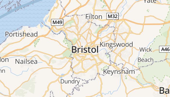 Bristol online kaart