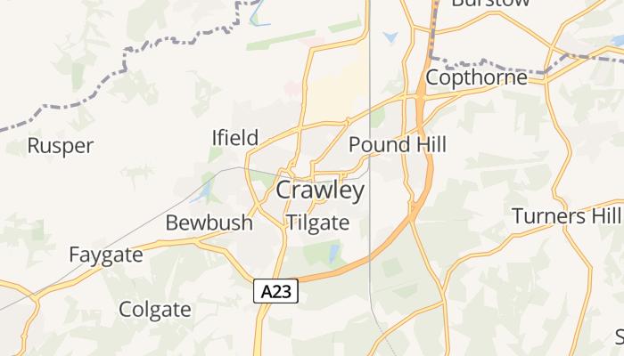Crawley online kaart