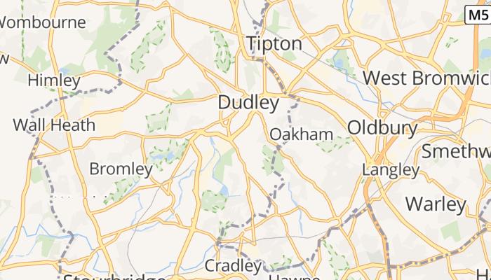 Dudley online kaart