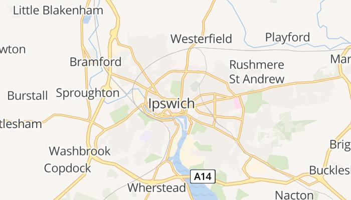 Ipswich online kaart