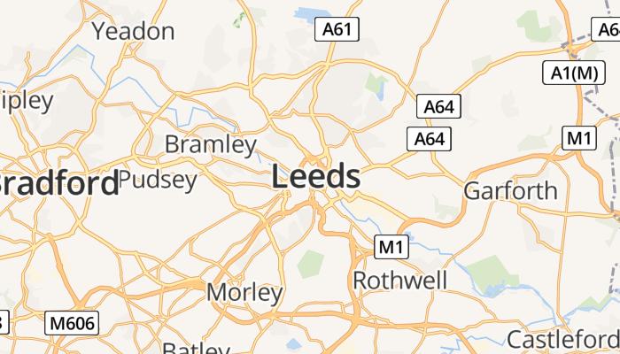Leeds online kaart