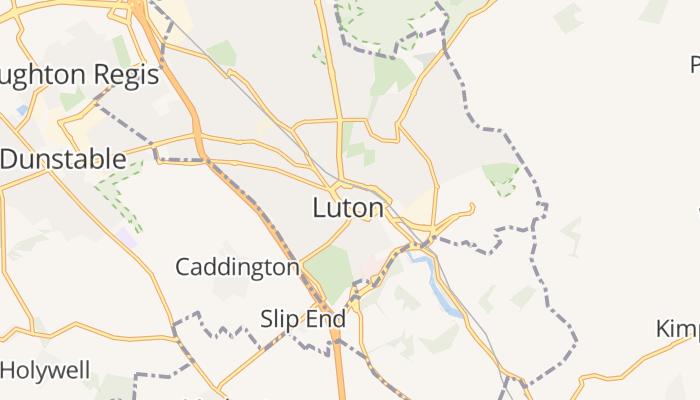 Luton online kaart
