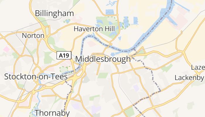 Middlesbrough online kaart