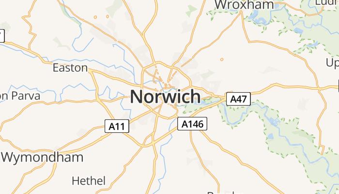 Norwich online kaart