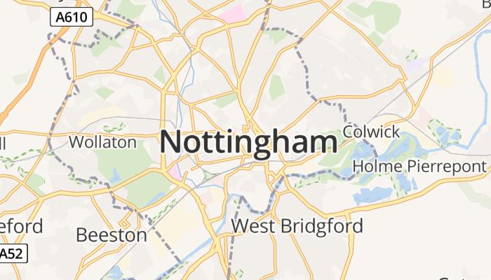Nottingham online kaart
