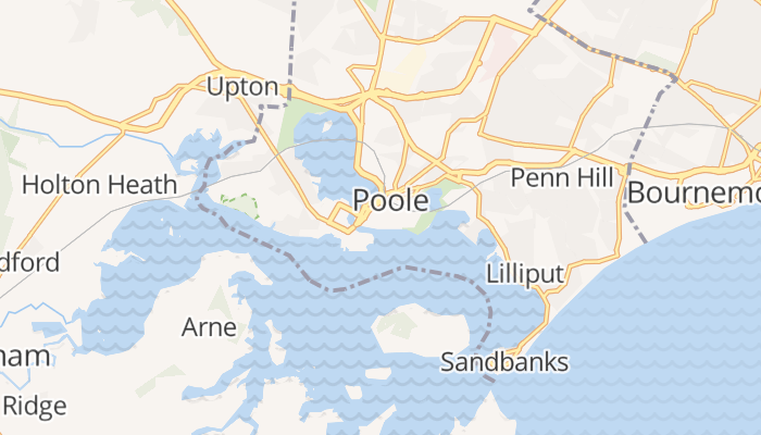Poole online kaart