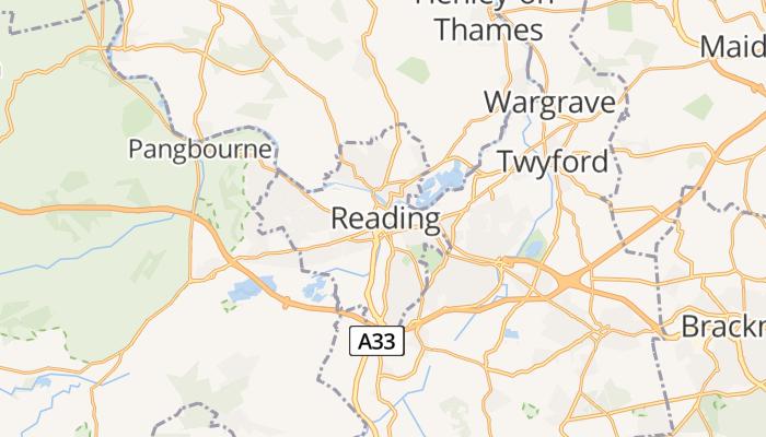 Reading online kaart