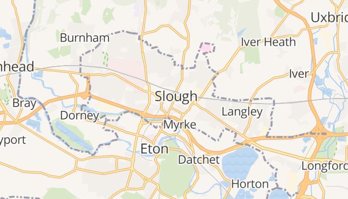 Slough online kaart
