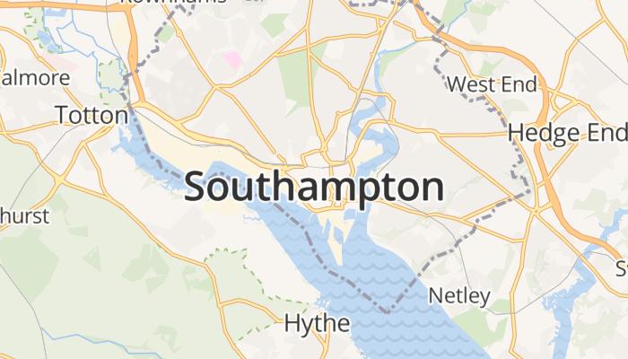 Southampton online kaart