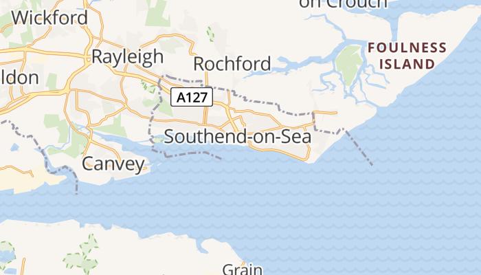 Southend-on-Sea online kaart
