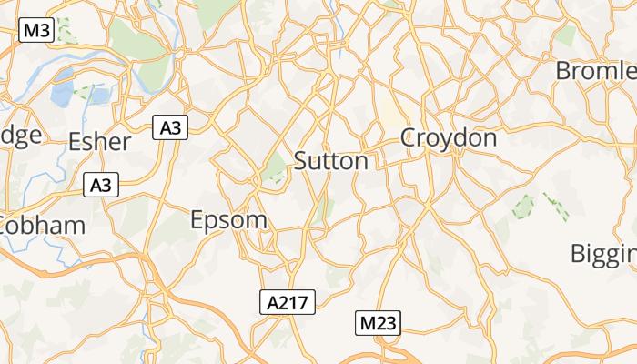 Sutton online kaart