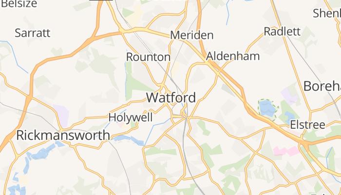 Watford online kaart