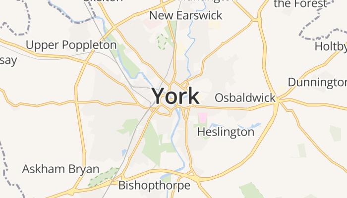 York online kaart