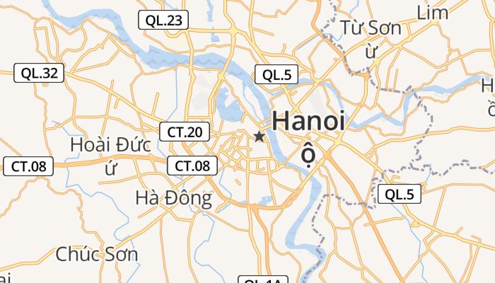 Hanoi online kaart