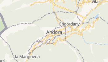 Andorra la Vella - szczegółowa mapa Google