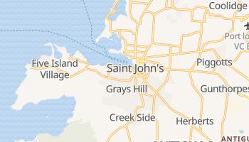 Saint John's (Antigua) - szczegółowa mapa Google
