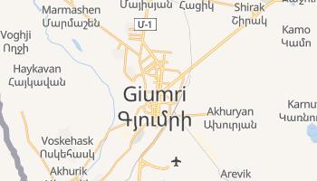 Giumri - szczegółowa mapa Google