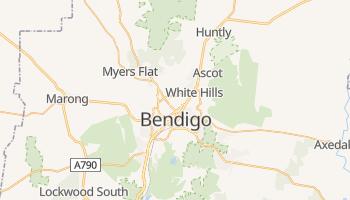Bendigo - szczegółowa mapa Google