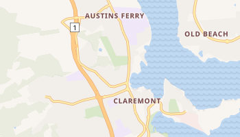 Claremont - szczegółowa mapa Google