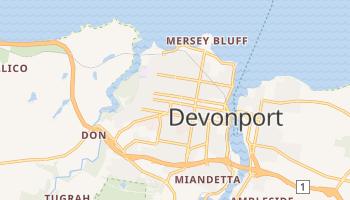 Devonport - szczegółowa mapa Google
