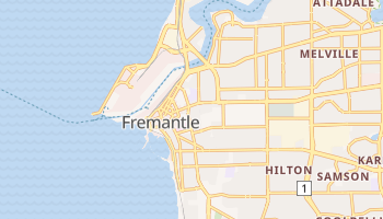 Fremantle - szczegółowa mapa Google