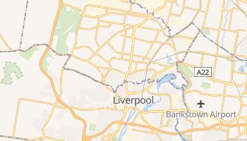 Liverpool - szczegółowa mapa Google