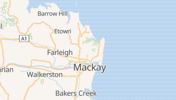 Mackay - szczegółowa mapa Google