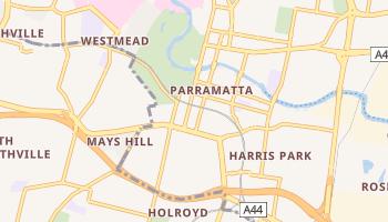 Parramatta - szczegółowa mapa Google
