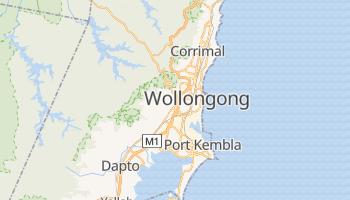 Wollongong - szczegółowa mapa Google