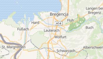 Bregencja - szczegółowa mapa Google