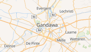 Gandawa - szczegółowa mapa Google