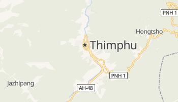 Thimphu - szczegółowa mapa Google