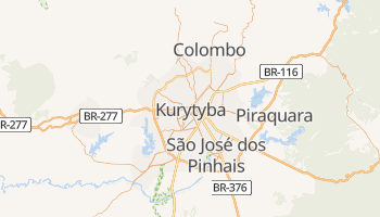 Kurytyba - szczegółowa mapa Google