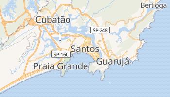 Santos - szczegółowa mapa Google