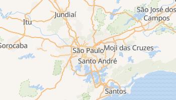 São Paulo - szczegółowa mapa Google