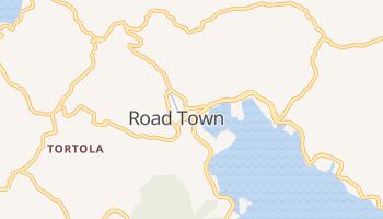 Road Town - szczegółowa mapa Google
