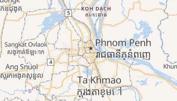 Phnom Penh - szczegółowa mapa Google