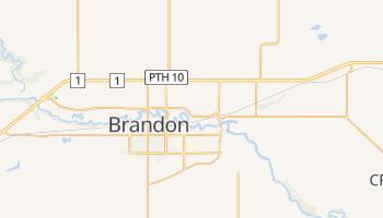 Brandon - szczegółowa mapa Google