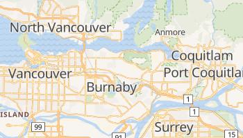 Burnaby - szczegółowa mapa Google
