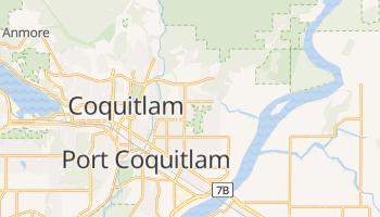 Coquitlam - szczegółowa mapa Google