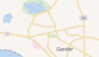 Gander - szczegółowa mapa Google