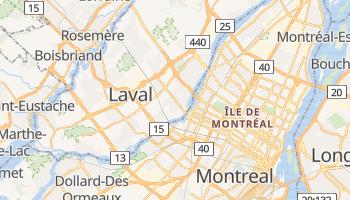 Laval - szczegółowa mapa Google