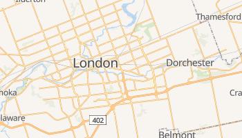 Londyn - szczegółowa mapa Google